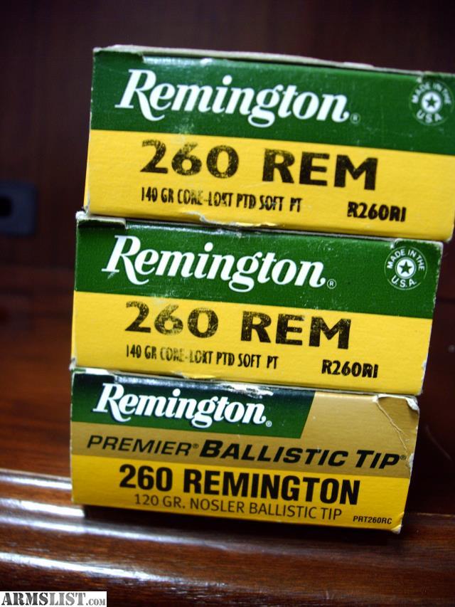 ARMSLIST - For Sale: 260 Remington Ammo