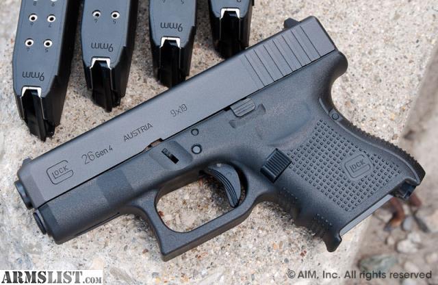 armslist   for sale gen 4 glock 26 sub  pact 9mm 5 10