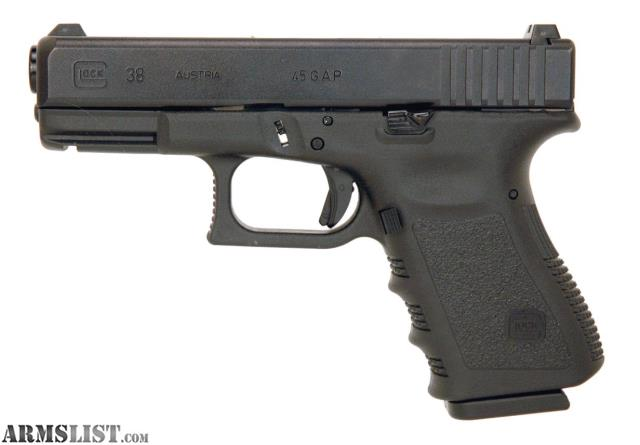 ARMSLIST - For Sale: Glock 38 .45 GAP Used