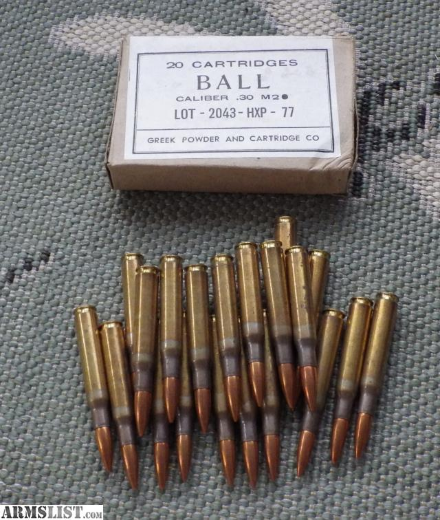 ARMSLIST - For Sale: Greek 30-06 Ammo For Sale