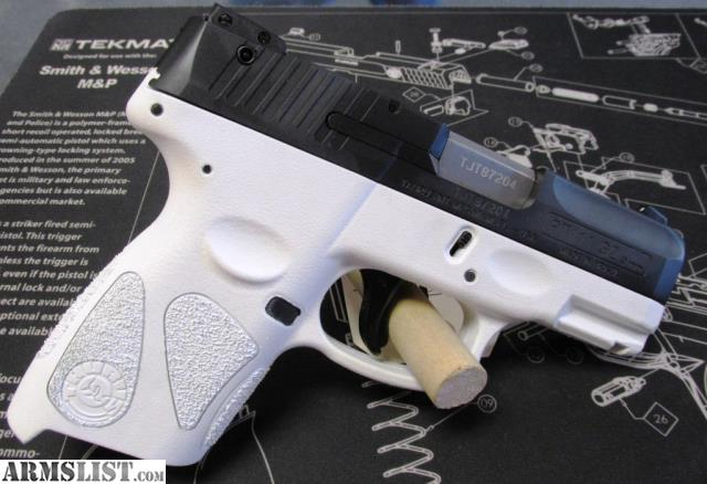 armslist for sale custom white cerakote taurus pt 111 millennium