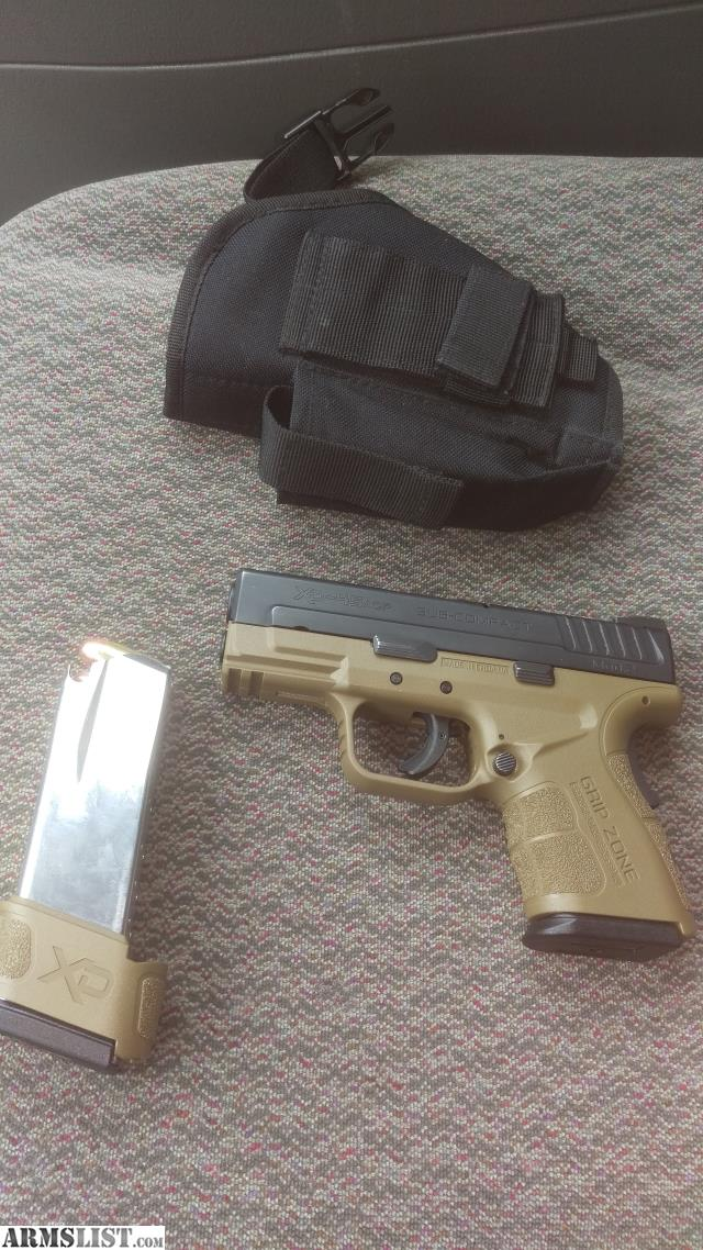 ARMSLIST - For Sale/Trade: Springfield xd  45 sub compact  Green and