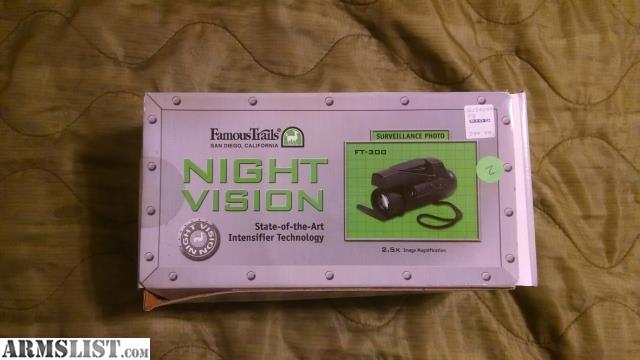 famous trails night vision manual