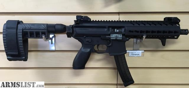 armslist for sale sig mpx 9mm pistol with sig arms brace