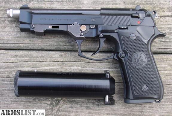 ARMSLIST - For Sale: Beretta 9mm with Silencer for sale.