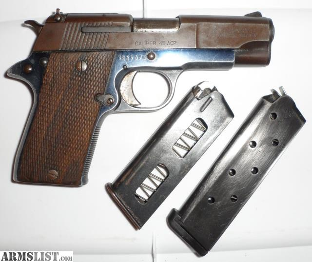 ARMSLIST - For Sale: *SOLD* 1911 Officers Star PD 45