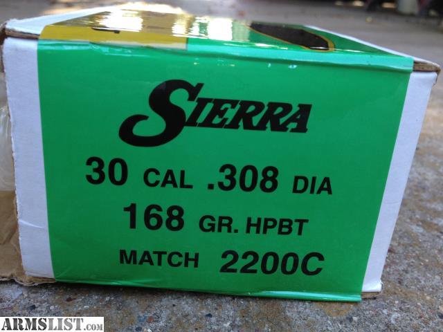 armslist for sale sierra 30 cal 308 dia 168 gr hpbt matchking