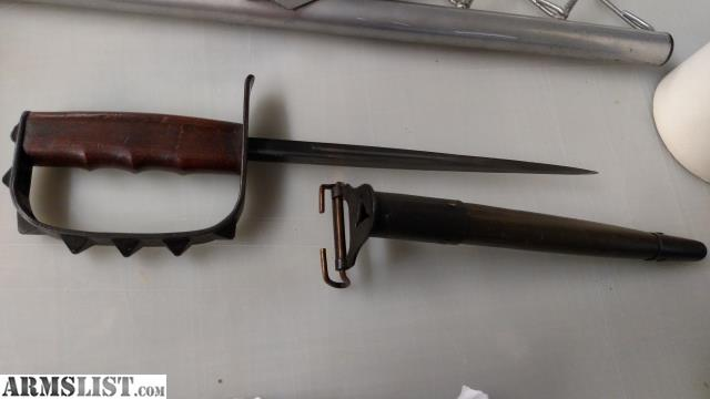 ARMSLIST - For Trade: 1917 trench knife spike knuckle US ... Spiked Trench Knife