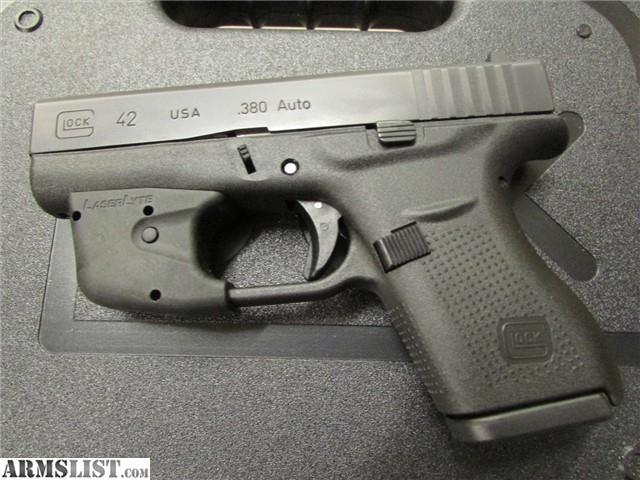armslist for sale glock 42 g42 380 auto w laserlyte laser. Black Bedroom Furniture Sets. Home Design Ideas