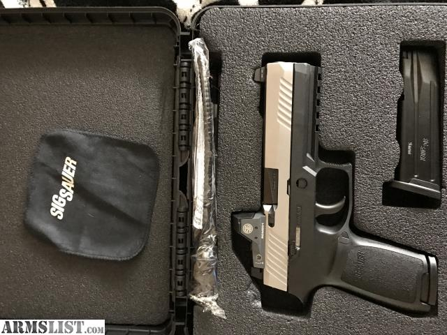 Sig p320 rx full size 9mm this has the sig romeo 1 reflex sight milled