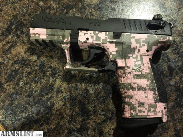 ARMSLIST - For Sale: Walther P22 Pink Digital Camo