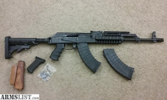 ARMSLIST For Sale Ak 47 Wasr 10 63 Upgraded Quad Rail