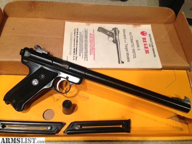 armslist for sale ruger mk ii target 10 22lr mk 10 mk10 mkii 22 rh armslist com Ruger Target Pistol Bull Barrel Stainless Steel Ruger Mark 2 Accessories