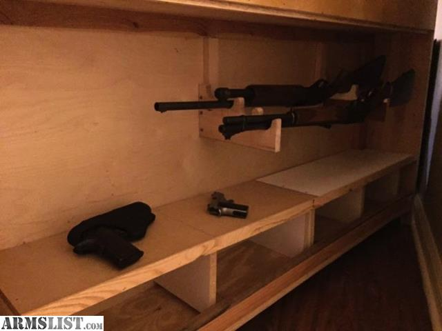wood gun rack 3 slots