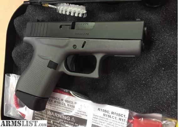 ARMSLIST - For Sale: Custom Glock 43 9mm, Cerakote ...
