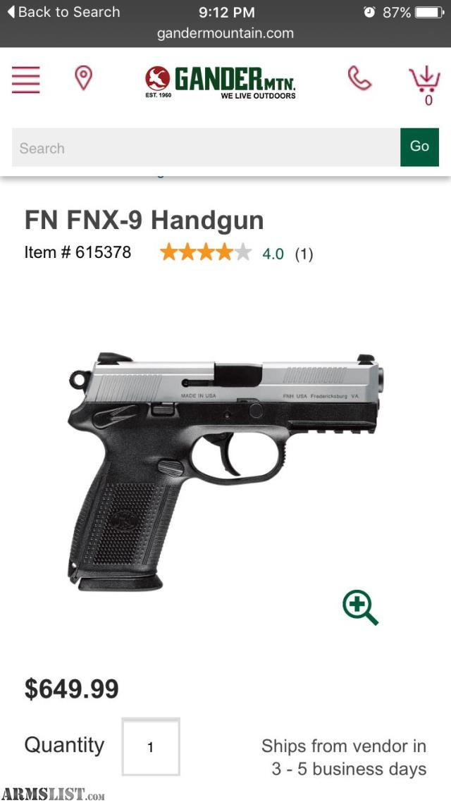 Mostly interested in an fnx 40 or fnx 45 575 cash or obo