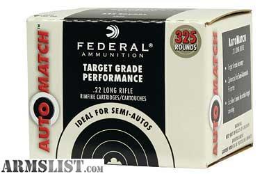 Armslist For Sale Federal Premium Automatch 22lr 325rd