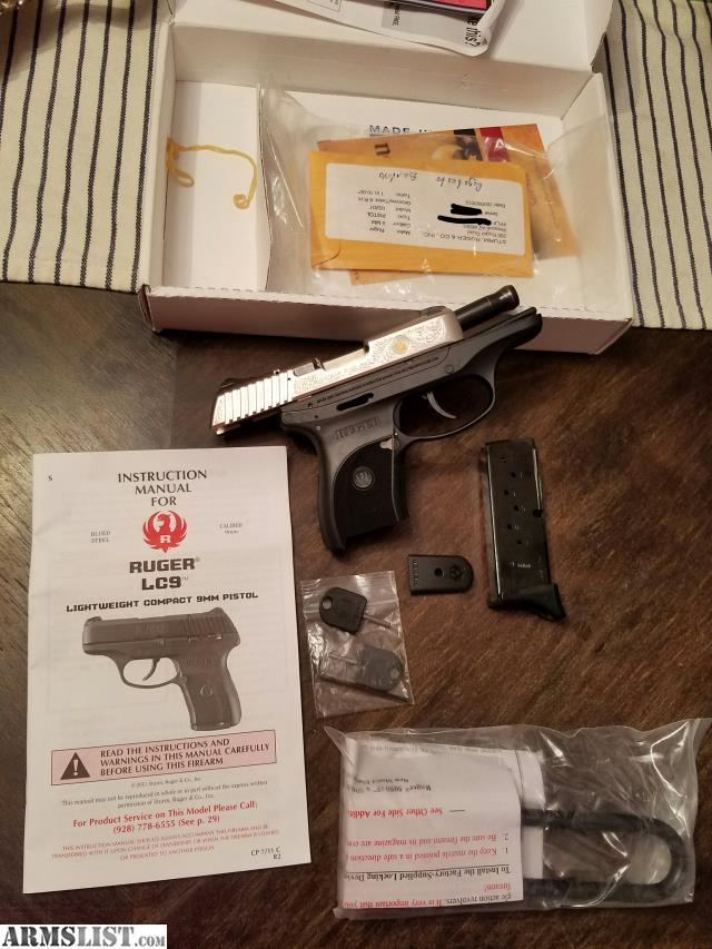 Armslist for sale: ruger lc9 talo gold edition.