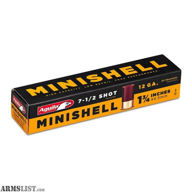 Armslist For Sale Aguila Minishell Ammunition 12 Gauge