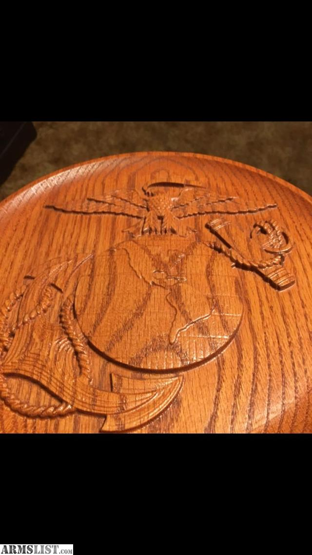 Armslist for sale marine corps d wood carving