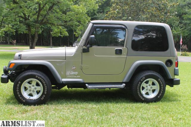 armslist for sale jeep wrangler sahara sport utility 2 door 4 0l hardtop automatic. Black Bedroom Furniture Sets. Home Design Ideas
