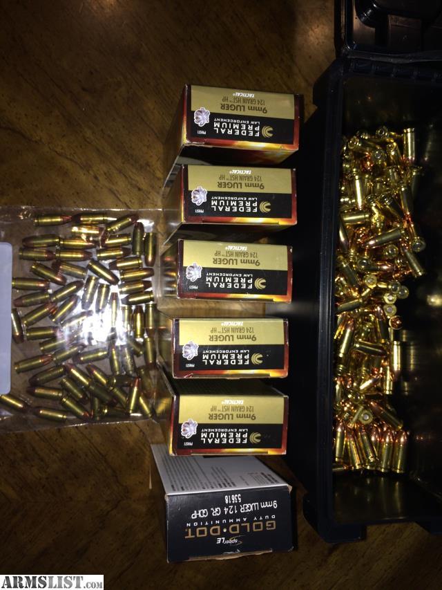 ARMSLIST - For Sale/Trade: 9mm Federal HST & Speer Gold Dot