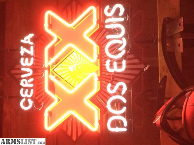 neon signs beer sign armslist equis dos light miller