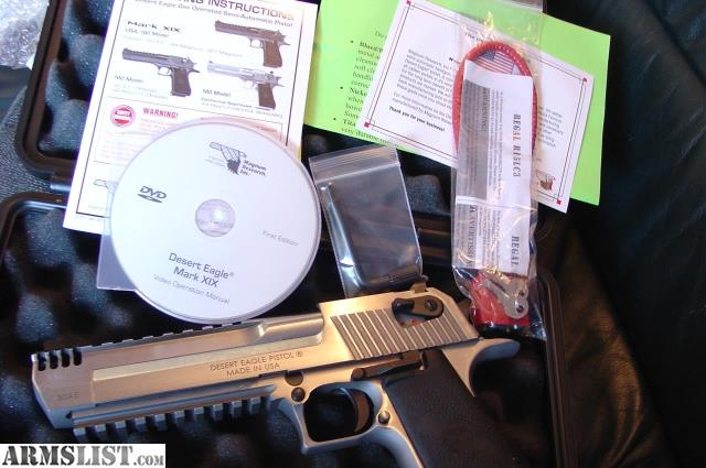 For Sale: New in box with all papers is Magnum Research Desert Eagle ...