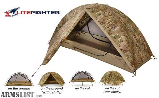 ... multi-season inidual shelter system that can be used both on the ground as an inidual waterproof tent and on A standard issue US military cot ...  sc 1 st  Armslist.com & ARMSLIST - For Sale: LiteFighter Tent