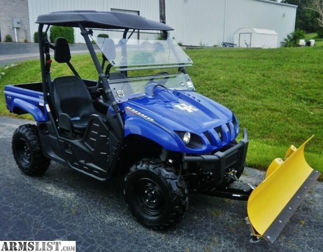 Armslist for sale 2012 yamaha rhino 700 fi 4x4 with plow for Yamaha grizzly 700 for sale