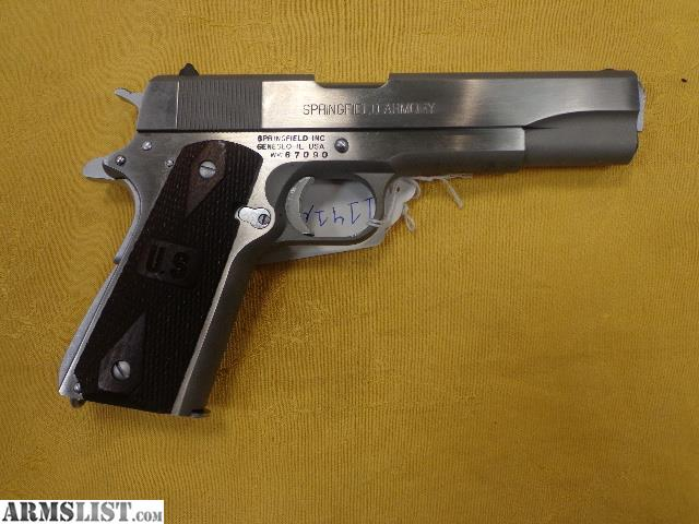ARMSLIST - For Sale: Springfield Armory 1911-A1 Stainless GI