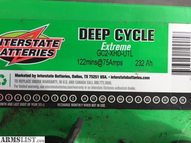 Armslist For Sale Agm Batteries 2 Interstate Deep