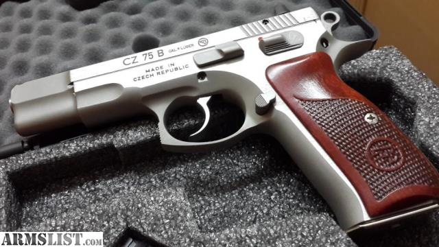 Armslist for sale trade: cz 75b matte stainless new limited