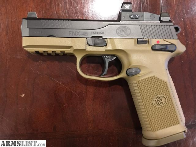 Armslist for sale fnx 45 tactical with tall suppressor night sights