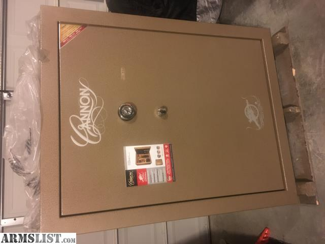 new cannon safe 72 gun just bought and have to sell due to moving still on pallet and has box and plastic around it just removed for pics