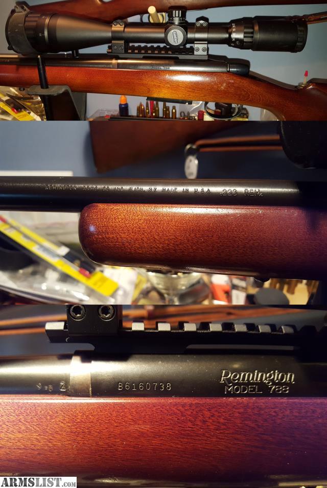 ARMSLIST - For Sale: Remington 788  223 Rem + (sold pending pmt)
