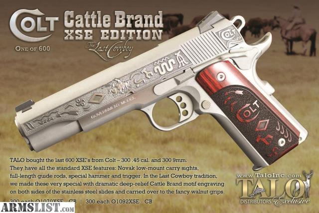 Armslist For Sale Colt Cattle Brand Xse Last Cowboy 45