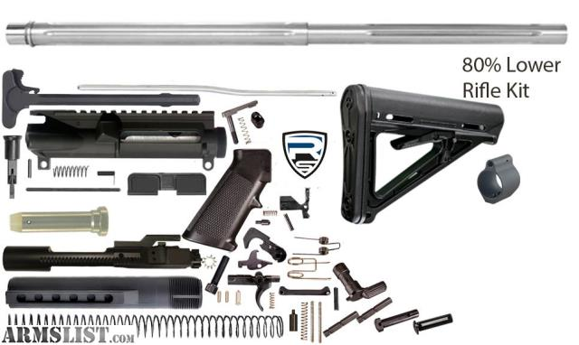 For Sale AR15 Complete 24 Bull Barrel Rifle Kit