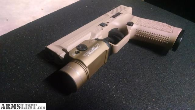 ARMSLIST - For Sale: FDE Canik tp9sf with FDE streamlight TLR 1 HL