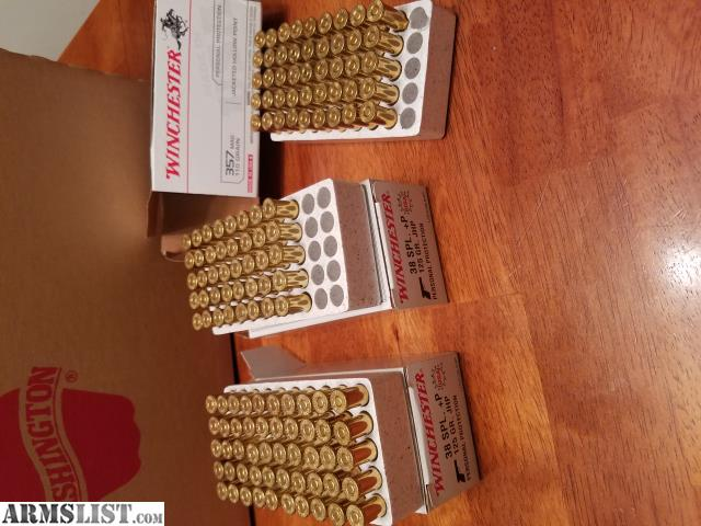 ARMSLIST - For Sale: 38 special + p and 357 self defense ammo