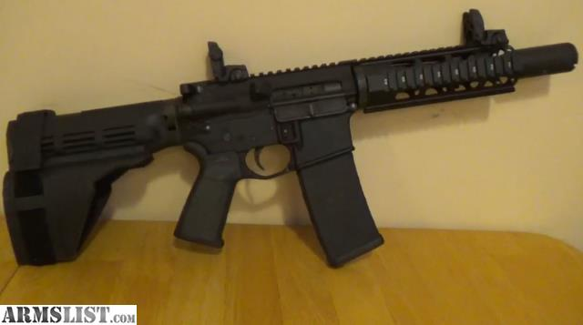 """For Sale: AR-15 7.5"""" Compact Pistol Rifle"""