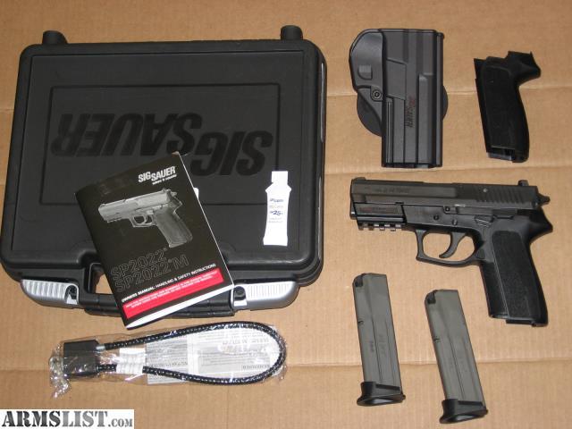 armslist for sale sig sauer sp2022 9mm nitron pistol w night rh armslist com Sig P226 Sig SP2022 Discontinued
