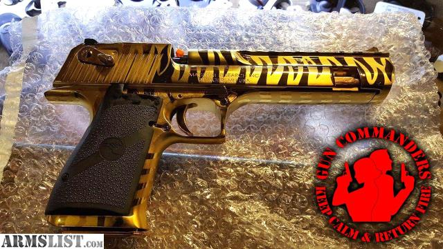 Armslist For Sale Desert Eagle 24k Gold Tiger Stripe Edition