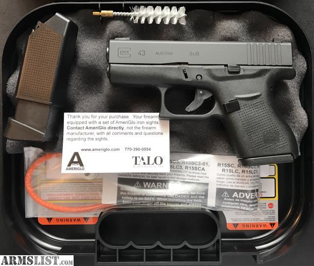 armslist for sale new unfired glock 43 talo edition 9mm original
