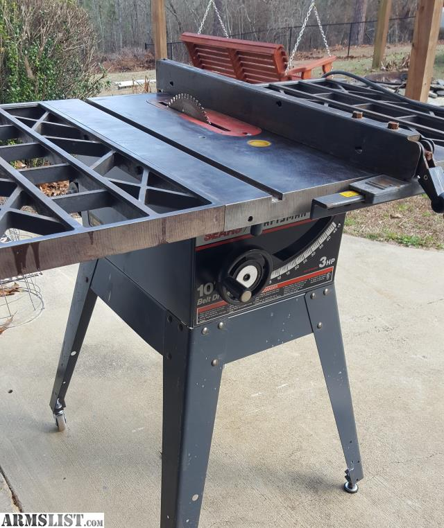 Armslist for sale trade 10 3hp craftsman table saw for 12 inch table saws for sale