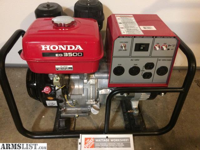 armslist  sale honda   generator hunting camp generator