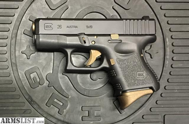 Armslist For Sale Glock 26 Gen3 9mm Graphiteburnt Bronze