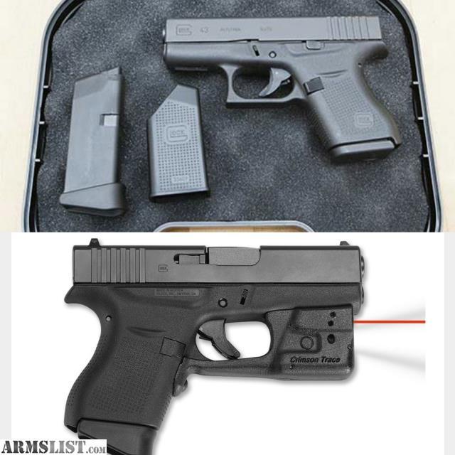 ARMSLIST - For Sale: NIB Glock 43 9mm, Crimson Trace laser! never fired