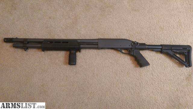 Remington 870 Tactical For Sale/trade, Cerakoted In Sniper Gray With Black  Furniture. Has A Mesa Tactical AR Stock/grip Adapter On It, And Comes With  A ...