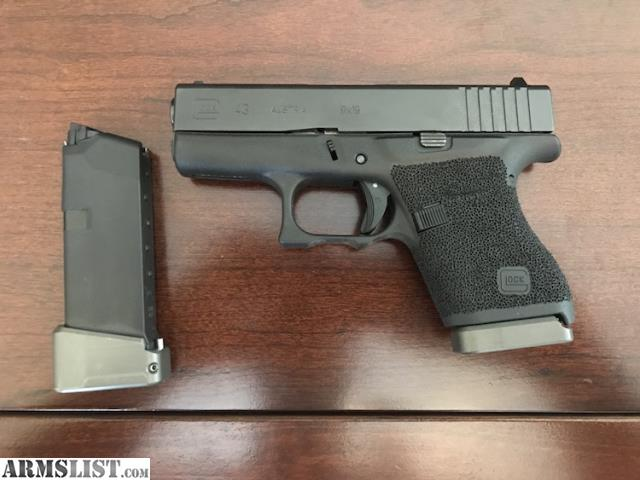 ARMSLIST - For Sale  Glock 43 w  extended magazines
